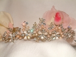 Heirloom-Rum Gold Freshwater Pearl Tiara