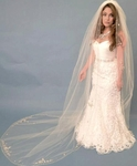 High end Swarovski crystal designer cathedral wedding veil - sale