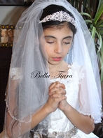 Italian collection - Pearl and crystal communion headpiece