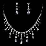 Holly - Spectacular Swarovski crystal drop wedding necklace set - SALE