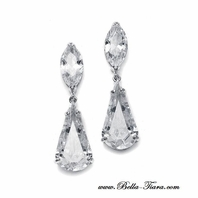 Hollywood Glamorous Cubic Zirconia earrings - SALE!!!
