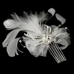Infinity - Elegant vintage feather bridal hair comb - SALE!!