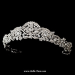 Italia - Royal Collection antique silver swarovski crystal wedding tiara - SALE