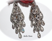 Jamina - Royal Crystal wedding Chandelier earrings - SPECIAL ONE LEFT