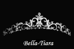 Janiella - Lovely scroll rhinestone communion tiara - Special