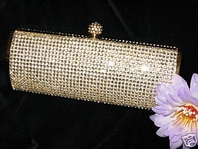 Jasmine - BEAUTIFUL Gold  Crystal Clutch/Purse