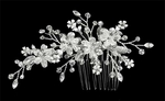 Jeanie - Swarovski crystal flower Bridal Hair comb