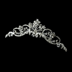 JeanLuisa beautiful crystal swirls communion headpiece - SALE