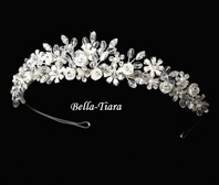 Jemma-Romantic ivory crystal bridal tiara - SALE!!