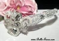 JEMMA - SPECTACULAR Royal Collection Crystal side headband - SPECIAL one left