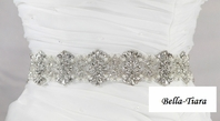 JENNI - High end Swarovski Wedding crystal pearl bridal sash, belt - SALE