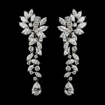 Jimena- Breathtaking Cubic Zirconia long drop Earrings- SALE