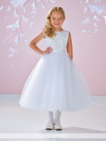 Joan Calabrese 117338 beaded communion dress - Size  7  READY TO SHIP --  FREE VEIL - FREE SHIPPING