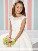 Joan Calabrese designer communion dress 216314 - Size 8 READY TO SHIP -  FREE VEIL