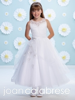 Joan Calabrese Communion Dress-116389- Satin and Tulle - FREE VEIL