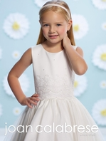 Joan Calabrese pearl beaded communion dress 116395 SIZE 6X READY TO SHIP -- FREE VEIL