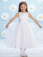 Joan Calabrese scattered beading communion dress 116383 - FREE VEIL / FREE SHIPPING