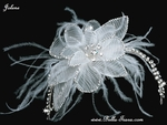 Jolene - Couture hair flower with feathers - SALE
