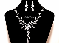 Josanne - Beautiful Cubic Zirconia wedding necklace set - RENTAL
