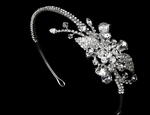 Josephine - HOT!!! Gorgeous side crystal bridal headband -- SPECIAL!!