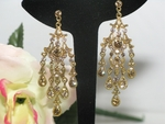 Juliana - Victorian gold chandelier earrings