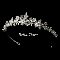 Julianne-ITALIAN collection pearl and crystal communion tiara