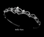 Juliet - Vintage-style princess cut Rhinestone Wedding Tiara - SALE!