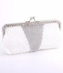 Kacey -Elegant dazzling light ivory wedding clutch purse - SPECIAL!