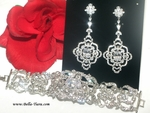 Kasha - High end cz earrings and bracelet set - AMAZING PRICE!!!