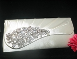 Kassandra - NEW!! Beautiful off white clutch satin vine bridal purse - SALE!!!
