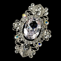 Kassidy - STUNNING CZ and crystal vintage design brooch