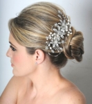 Kate - Royal Collection - Swarovski crystal pearl wedding hair comb - SALE