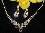 Katherine-Gold Elegance Austrian Crystal Gold Necklace set
