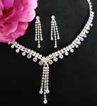 Kayla-Rhinestone drop necklace set -- SALE!!