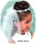 Kaylee - Beautiful communion wreath headpiece with veil - SALE