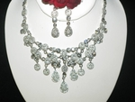 Kendra- Vintage-inspired Swarovski crystal bridal necklace set - SALE!!