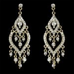 Kerie - vintage gold rhinestone chandelier earrings - SALE!!