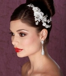 Kierra - Beautiful floral and crystal wedding headpiece - SALE