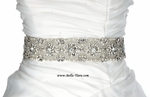 Kimberly - SPECTACULAR HIGH END Swarovski crystal pearl wedding bridal sash belt - SALE