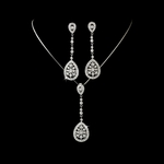 Klara - Vintage Elegance CZ bridal necklace set - SALE!!