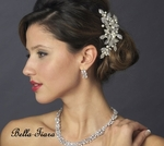 Kresha - Beautiful light ivory pearl wedding bridal hair comb - SALE