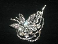 Kristina - Vintage inspired bold bridal brooch - SPECIAL!! A few left