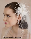 Kylie - Sophisticated romance wedding feather flower - Amazingly Priced