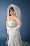 Ladonna - Couture Stunning Pouf and cathedral wedding Veil -SALE