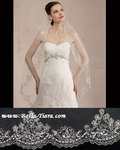 Laila - Royal Collection Heirloom Swarovski edge wedding veil - SALE