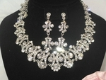Lamya- SWAROVSKI CRYSTAL bridal necklace set - SALE!!!