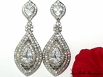 Lara - Beautiful swarovski crystal drop wedding earrings - SPECIAL