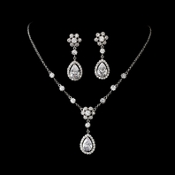 Laura - Elegant CZ bridal necklace set - SALE!!