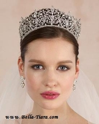 Laurel - Royal Collection Swarovski crystal queen tiara - SPECIAL
