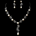 Lauren - Vintage vine freshwater pearl bridal necklace set - sale!!